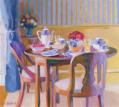 Teapot Painting - Breakfast Table by William Ireland