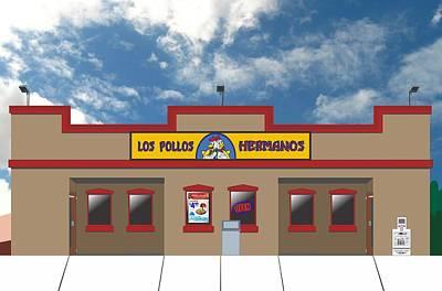 Breaking Bad - Los Pollos Hermanos Print by Troy Arthur Graphics