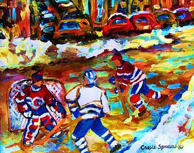 Breaking  The Ice Print by Carole Spandau
