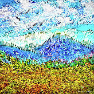 Trippy Digital Art - Breath Of Autumn - Colorado Front Range Mountains by Joel Bruce Wallach
