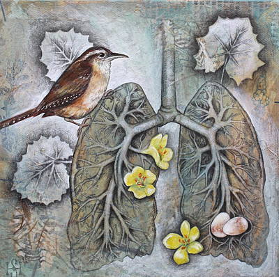 Wren Mixed Media - Breath Of Life by Sheri Howe