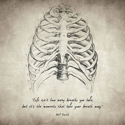 Decorative Drawing - Breathe Quote by Taylan Soyturk
