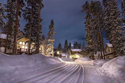 Breckenridge Winter Evening Print by Michael J Bauer