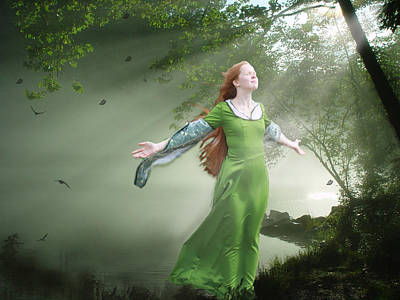 Mystical Women Mixed Media - Breeze by Marrissia Ruth