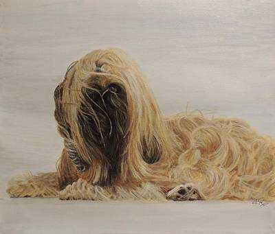 Pekingese Painting - Breezy Pup by Connie Campbell Rosenthal