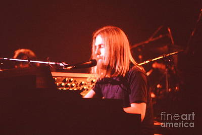 Music- Concert - Grateful Dead - Brent Mydland  Print by Susan Carella