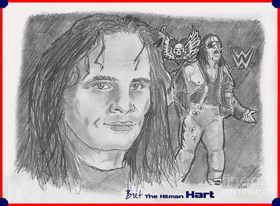 Bret The Hitman Hart Print by Chris  DelVecchio