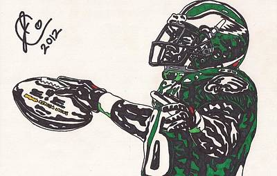 Brian Westbrook 2 Print by Jeremiah Colley