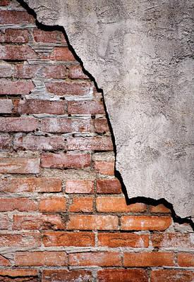 Brick Wall II Print by David and Carol Kelly