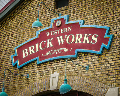 Building Factory Work Vintage Photograph - Brick Works by Perry Webster