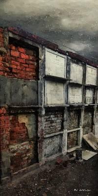 Decrepit Digital Art - Bricks And Bones by RC deWinter