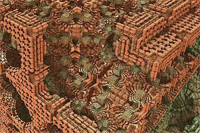 Tessellation Digital Art - Bricks And Mortar by Lyle Hatch