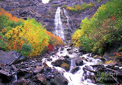 Falltime Photograph - Bridal Veil Falls by Dave Hampton Photography