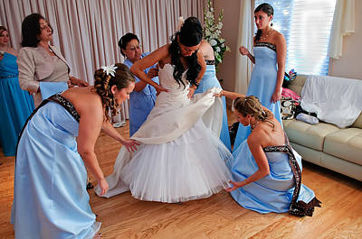 Bride Being Dressed While Mother Watches With Pride Original by JP Brandano Photography