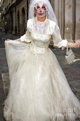 Bride Of Jackson Square Painted_nola Print by Kathleen K Parker
