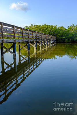 Bowmans Beach Photograph - Bridge Across The Bayou by Edward Fielding