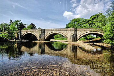 Yorkshire Photograph - Bridge At Grinton by Stephen Smith