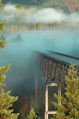 Bridge In The Mist Print by Annie Pflueger