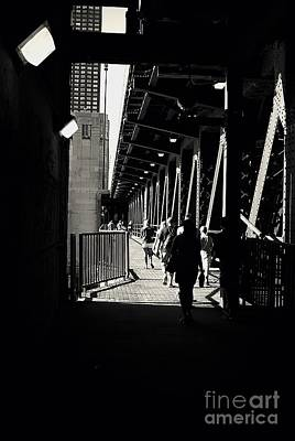 Bridge - Lower Lakeshore Drive At Navy Pier Chicago. Print by Frank J Casella