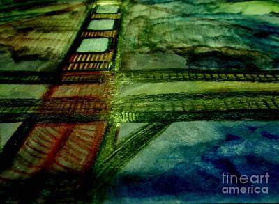 Blue Painting - Bridge Of The Light by Stephanie Zelaya