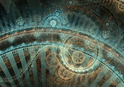 Abstracted Digital Art - Bridge Of Time by David April