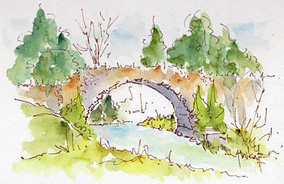 Bridge Over Spencer Creek Print by Pat Katz
