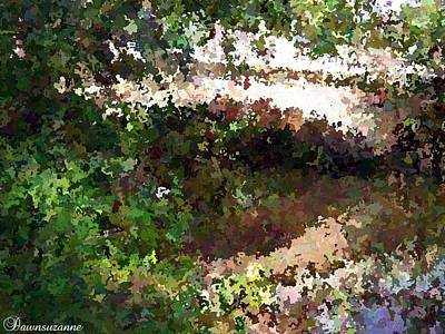 Garden Painting - Bridge Over Still Waters Painting by Dawn Hay