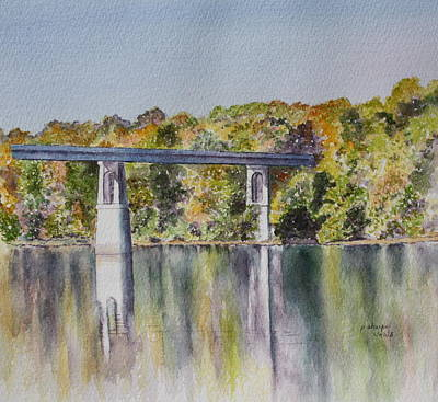 Painting - Bridge Over The Cumberland by Patsy Sharpe