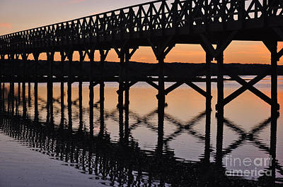 Sunset Photograph - Bridge Silhouette At Dusk In Quinta Do Lago by Angelo DeVal
