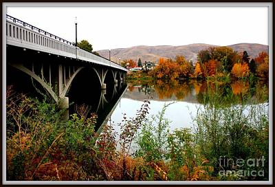 Bridge To Downtown Prosser Print by Carol Groenen