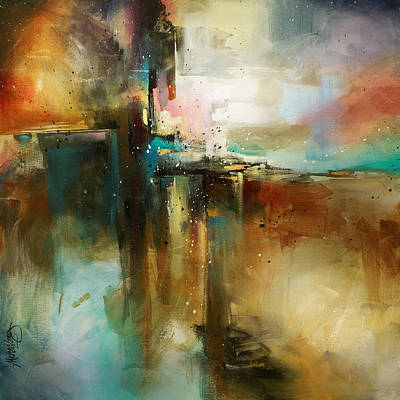 Abstracted Painting - 'bridge To Eternity' by Michael Lang