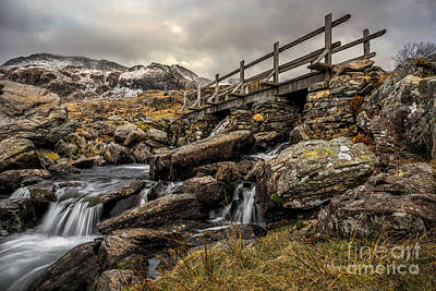 Bridge To Moutains Print by Adrian Evans