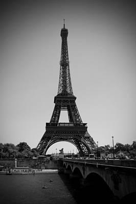 Bridge To The Eiffel Tower Print by Kamil Swiatek