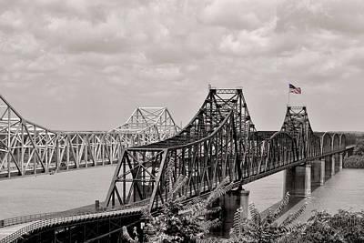 Bridges At Vicksburg Mississippi Print by Don Spenner
