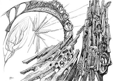 Joyful Drawing - Bridging The Vortex by Charles Cater