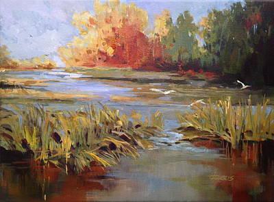 Painting - Brigantine by Helen Harris
