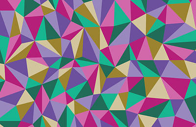 Modern Abstract Drawing - Bright Angles by Lauren Amelia Hughes