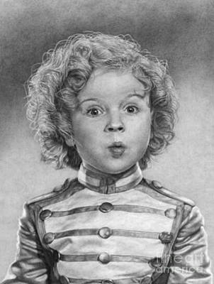 Shirley Temple Drawing - Bright Eyes by Blackwater Studio