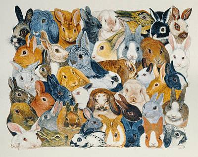 Furry Painting - Bright Eyes by Pat Scott