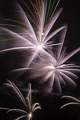 Freedom Party Photograph - Bright Fireworks by Garry Gay