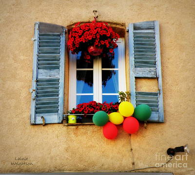 Bright Flowers And Balloons Print by Lainie Wrightson
