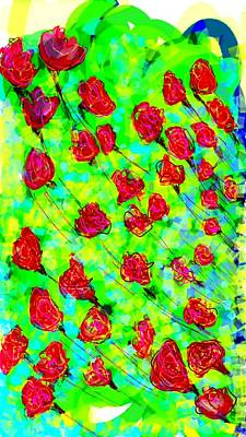 Roses Digital Art - Bright by Khushboo N