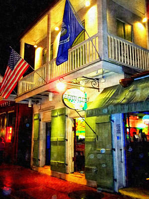Bright Lights In The French Quarter Print by Glenn McCarthy Art and Photography