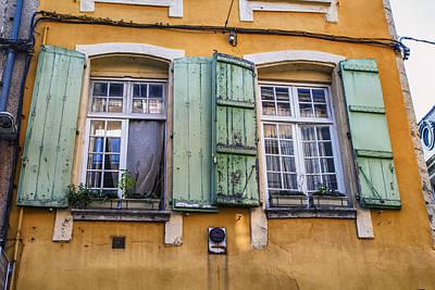 Bright Mediterranean Windows Print by Georgia Fowler
