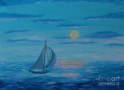 Bright Moonlit Night Print by Barbara Griffin
