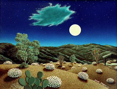 Bright Night Print by Snake Jagger