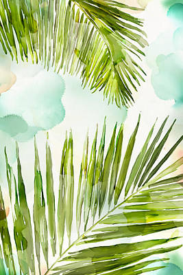 Palm Fronds Painting - Bright Palm by Mauro DeVereaux