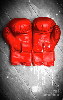 Boxing Gloves Photograph - Bright Red Boxing Gloves by Jorgo Photography - Wall Art Gallery