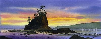 Bright Seacoast Sunset Print by James Williamson