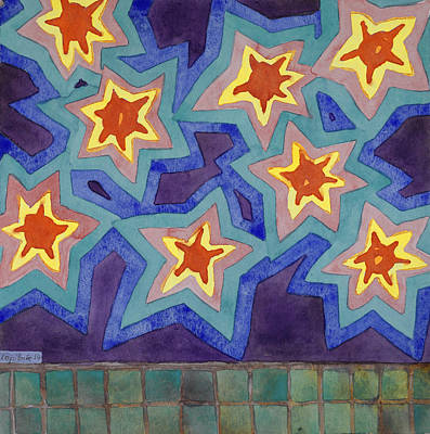 Bright Super Stars Original by Heidi Capitaine
